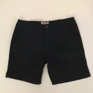 NWOT Arizona Flat Chino Front Shorts Black Size 40